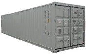 40' iso box dry cargo container